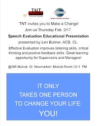 the newmarket toastmasters tnt tnt speech evaluation educational presentation