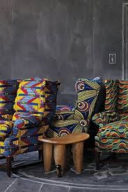 west african prints on furniture african decor furniture