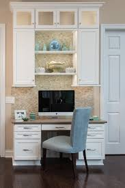kitchen cabinets home office transitional: kitchen office nook home transitional with built in white cabinets f