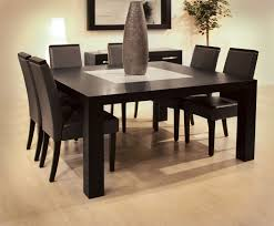 dining room tables chairs square:  awesome dining room modern espresso square wooden dining table with six for square dining room table