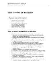 job description of a retail  s associate for a resume        job description of a retail  s associate for a resume resume sales associate job description