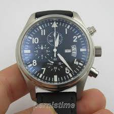 42mm <b>Parnis</b> Small Second Stainless Case Japan Quartz ...