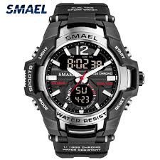 <b>SMAEL Men's</b> Sport Quartz Watch <b>Men</b> LED Digital 5ATM ...