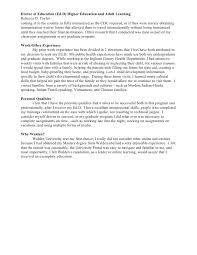 personal and professional goal statement      doctor of education