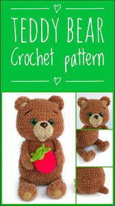 CROCHET TEDDY BEAR pattern - Amigurumi bear toy pattern ...