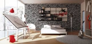 red wall paint black bed:  inspiring picture of red black and white room decoration ideas magnificent red black and white