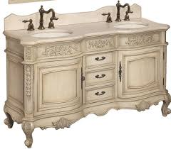 traditional style antique white bathroom: french country bathroom vanity  double sink bathroom