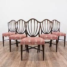hepplewhite shield dining chairs set: set of  hepplewhite shield back dining chairs loveseat vintage furniture san diego amp los angeles