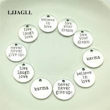 LJJAGLL <b>10pcs</b> Metal Alloy Silver 19*19mm Mix 5kinds Letter ...