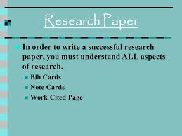 order research paper