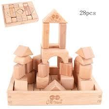 <b>Free shipping Kids 28/32</b>/<b>56pcs</b> Classic Wooden Building blocks toy ...
