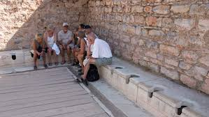 "Image result for Flushable"" toilets were in use in ancient Rome"