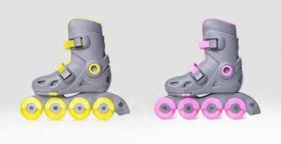 Детские роликовые <b>коньки Xiaomi</b> Smart Skates (Розовый)