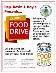 fair civic association  rep boyle food drive