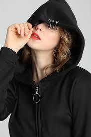 Domple Womens Drawstring Classic <b>Gothic Cat</b> Ear Hoodie ...