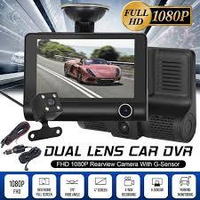 4'' HD 1080P <b>3 Lens Car</b> DVR <b>Dash</b>.Cam <b>Vehicle</b> Video Recorder ...