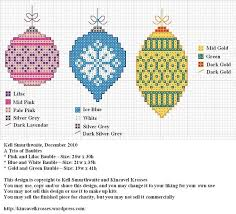 A <b>Trio</b> of Baubles | Xmas cross <b>stitch</b>, Cross <b>stitch</b>, Christmas cross ...
