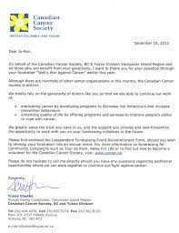 letter of recognition from the canadian cancer society the these are the letters of recognition