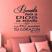 <b>Wall Decal</b>. <b>Bible Scripture</b>. Filipenses 4:6. Vinilos Decorativos ...