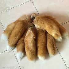 <b>10pcs</b>/<b>Lot Large</b> Luxury <b>Crystal</b> Real Fox Tail Keychain Fur Tassel ...