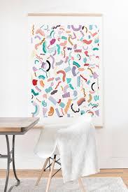 <b>Curly</b> And Zigzag <b>Stripes</b> Marker Drawing Art <b>Print</b> And Hanger ...
