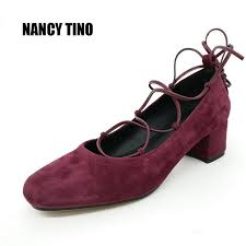 <b>NANCY TINO</b> 2017 New Hot Lace up Platform Pumps Oxfords ...