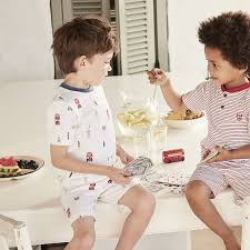 boys nightwear boys the little white company the white london short pyjamas 1 12yrs