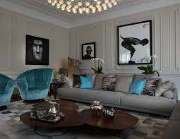 contemporary blue gray living room and contemporary quirky decor ideas in london blue gray living room