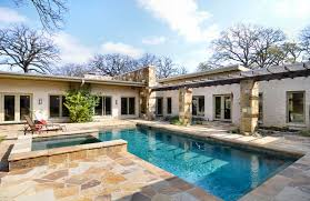 U shaped houses  House plans   pool and House plans on Pinterest
