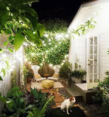 the softly glowing backyard is warm and welcoming thanks in large part to twinkle lights terrific small balcony furniture ideas fashionable product
