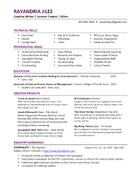 resume tips creative writing content writer resume pg1