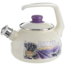 <b>Чайник эмалированный</b> Metrot Лаванда <b>2.5 л</b>