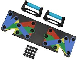 <b>9 in 1 Push</b> Up Rack Board System Fitness Workout Train Gym ...