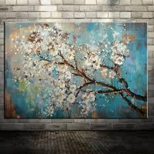 <b>Large</b> Paintings Springtime 100% <b>Hand-painted Interior Design</b> ...
