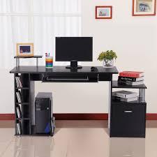 awesome wood computer desk laptop workstation office home drawer shelf storage awesome computer desk home