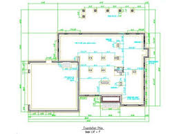 Typical House Plan Drawings   by Vance Hester DesignsFoundation Plan