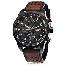 <b>CURREN Casual</b> Men Quartz Watch Deep Brown Quartz Watches ...