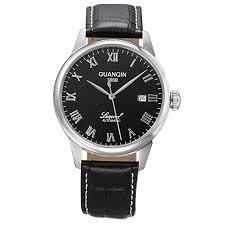 <b>Men's</b> Automatic Watches Stainless <b>Steel</b> Strap Calendar <b>GUANQIN</b> ...
