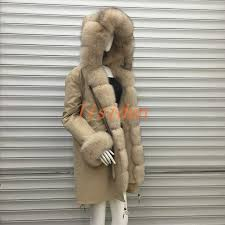 <b>lisidun 2018</b> fur coat fox parkas winter jacket coat women parka big ...