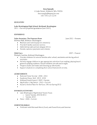 high school resume template word job resume samples high school resume template word