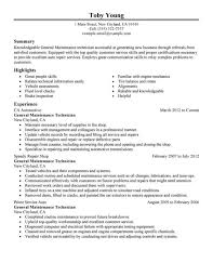 automotive mechanic resume samples cipanewsletter job wining automotive mechanic resume sample displaying summary