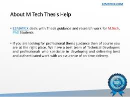help on thesis ASB Th  ringen M tech thesis help in chandigarh