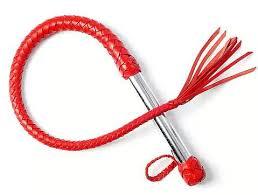 <b>Sitabella Однохвостая</b> красная <b>плеть</b> с хлопушкой - 70 см.