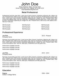 resume samples retail  seangarrette coresume samples retail  s associate resume sample