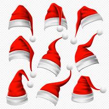<b>Santa</b> claus hats. christmas red and <b>furry</b> headdress and winter ...