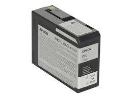 <b>Epson T5801</b> 80ml <b>Photo Black</b> Ink Cartridge   Ebuyer.com