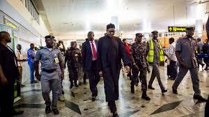 Image result for buhari arrives abuja