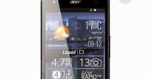 Spesifikasi Dan Harga Acer E380 Liquid E3 Duo - 16 GB ...