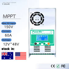 PowMr MPPT <b>60A 50A 40A</b> 30A <b>LCD</b> Solar Charge Controller 12V ...