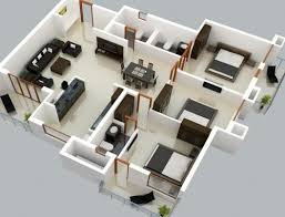 Home and Apartment  d Three Small Bedrooms House Using Home    Most popular tags for this image include  house plans  bedroom house plans